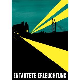 Affisch till föreläsning om design under andra världskriget