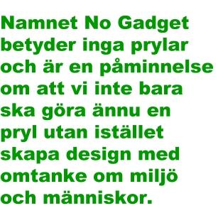 Namnet No Gadget